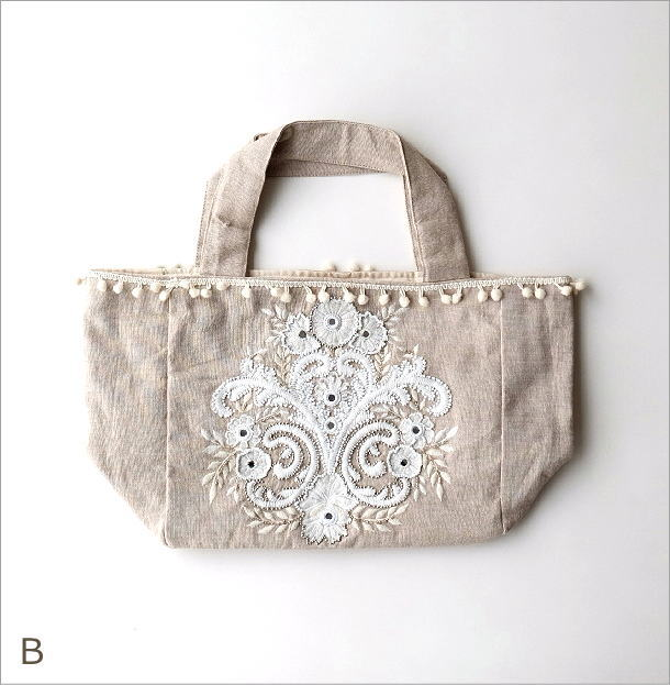 ビーズ刺繍バッグ 3カラー(6)