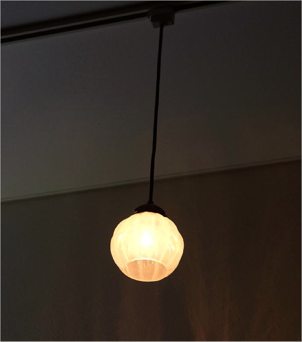 ガラスのペンダントライトフラワーC(1)