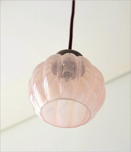 ガラスのペンダントライトフラワーC(3)