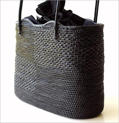 アタ飾り編みオーバルバッグ(2)