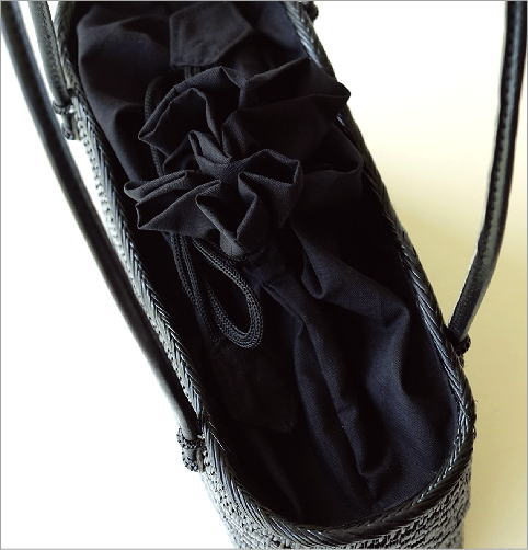 アタ飾り編みオーバルバッグ(3)