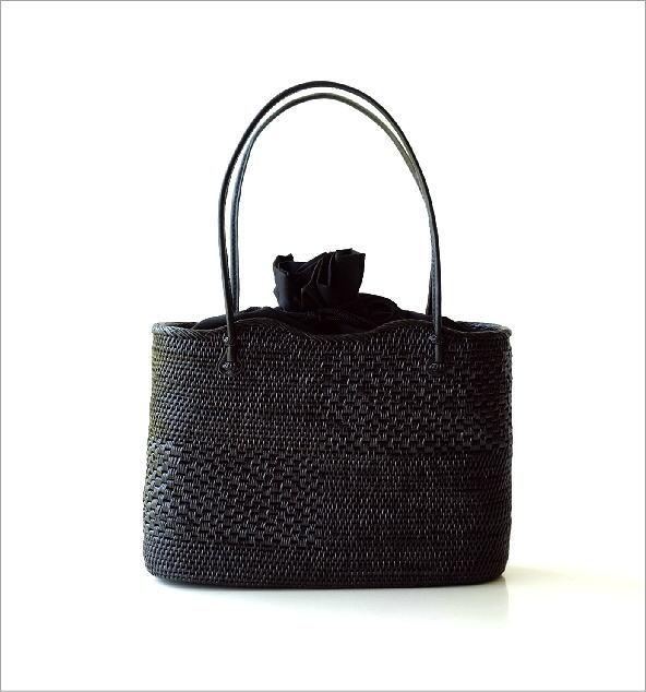 アタ飾り編みオーバルバッグ(5)