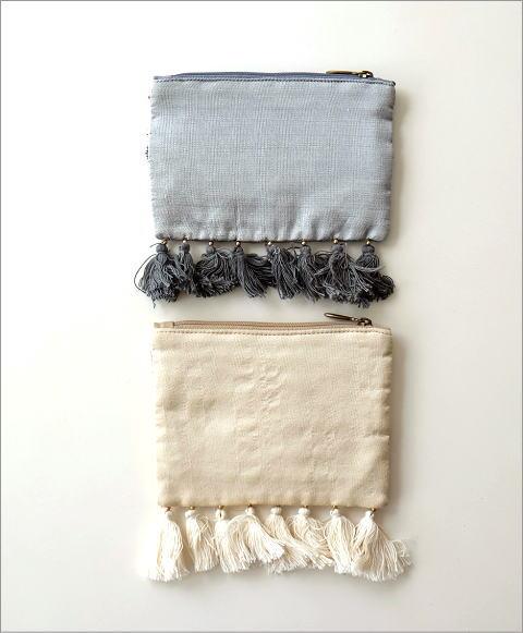 ビーズ刺繍フリンジポーチS 2タイプ(3)