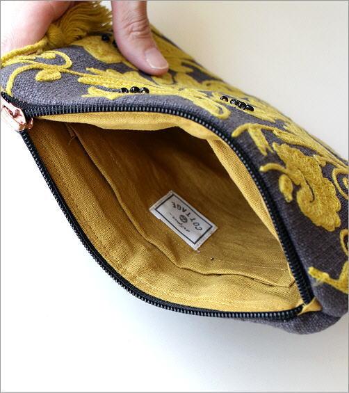 刺繍コットンポーチ 3カラー(3)