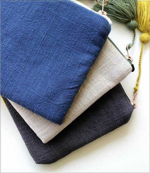 刺繍コットンポーチ 3カラー(4)
