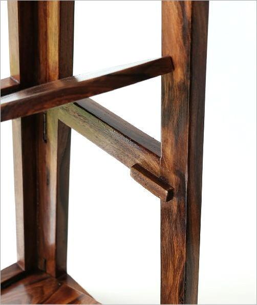 折り畳みウッドコーナーシェルフ(4)