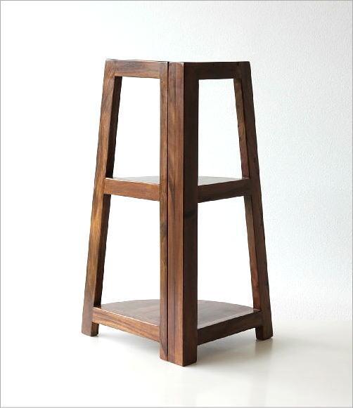 折り畳みウッドコーナーシェルフ(5)