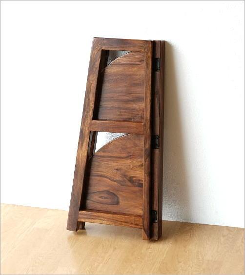 折り畳みウッドコーナーシェルフ(6)