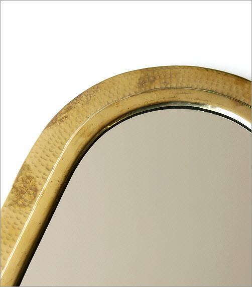 真鍮の壁掛けミラー アーチ(2)