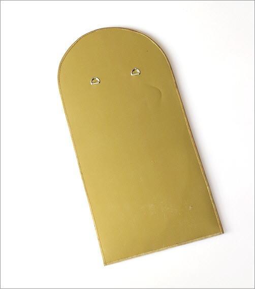 真鍮の壁掛けミラー アーチ(4)