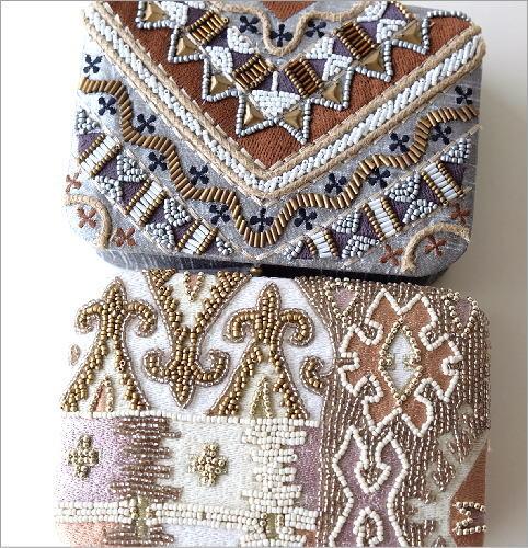 ビーズ刺繍レクタングルボックス2タイプ(2)