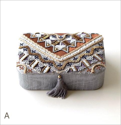 ビーズ刺繍レクタングルボックス2タイプ(4)