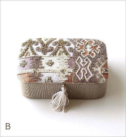 ビーズ刺繍レクタングルボックス2タイプ(5)