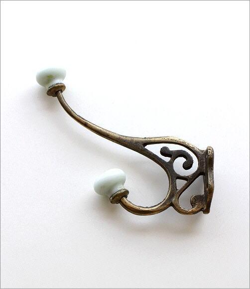 陶器付レトロな真鍮のフック B(2)