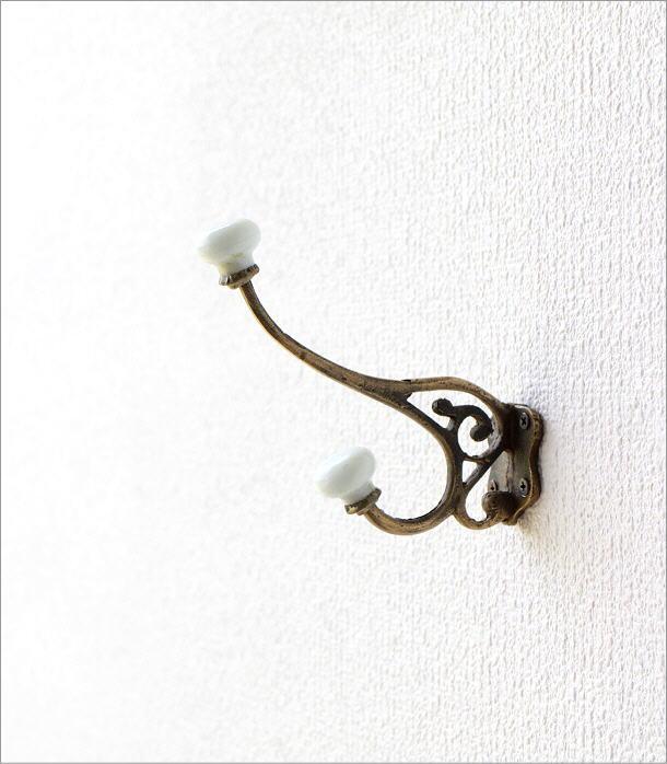 陶器付レトロな真鍮のフック B(4)