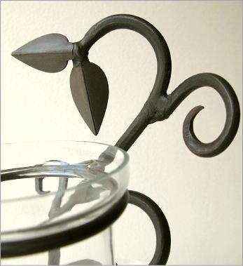 花瓶 フラワーベース アイアンとガラスの3ポットベース(2)