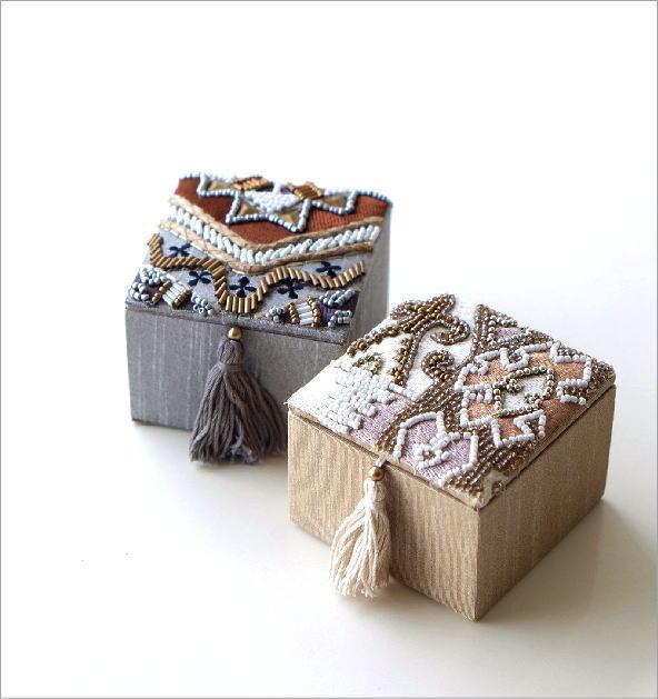 ビーズ刺繍スクエアミニボックス2タイプ(1)