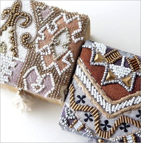 ビーズ刺繍スクエアミニボックス2タイプ(2)