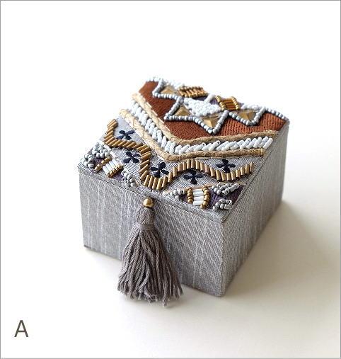 ビーズ刺繍スクエアミニボックス2タイプ(4)