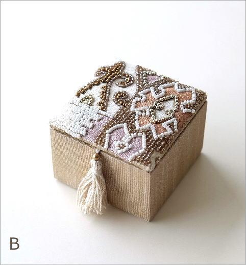 ビーズ刺繍スクエアミニボックス2タイプ(5)