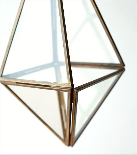 ハンギングガラステラリウム 三角(3)