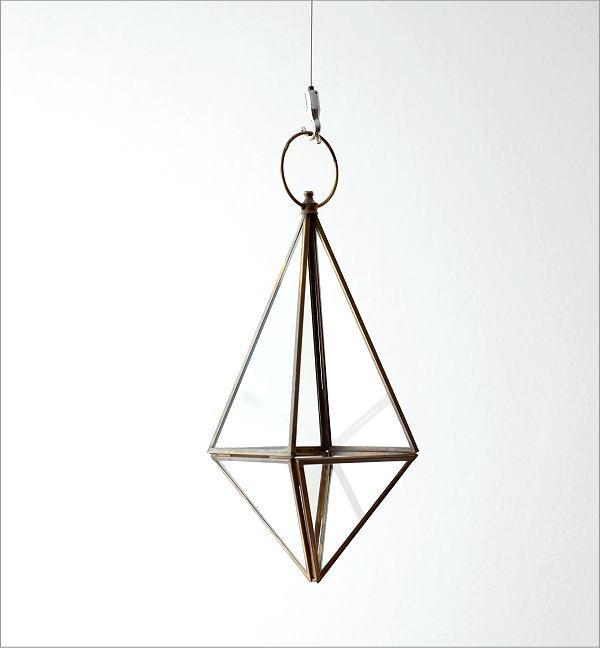 ハンギングガラステラリウム 三角(4)