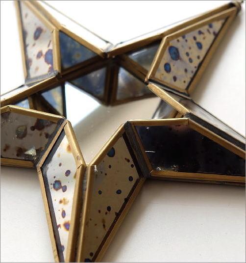 ブラスガラスオーナメント スター(3)