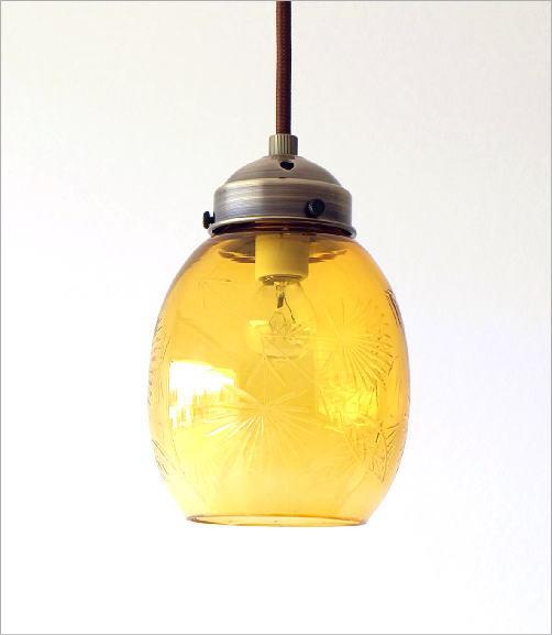 ガラスのペンダントライトベルC(4)