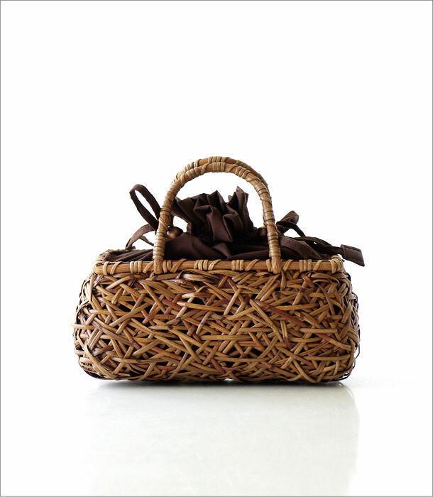 ラタンランダム編み横長バッグ 2カラー(5)