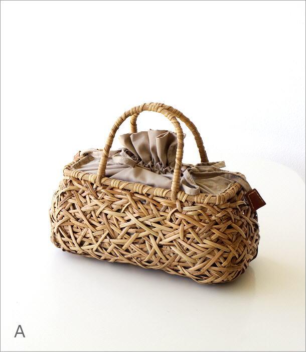 ラタンランダム編み横長バッグ 2カラー(6)