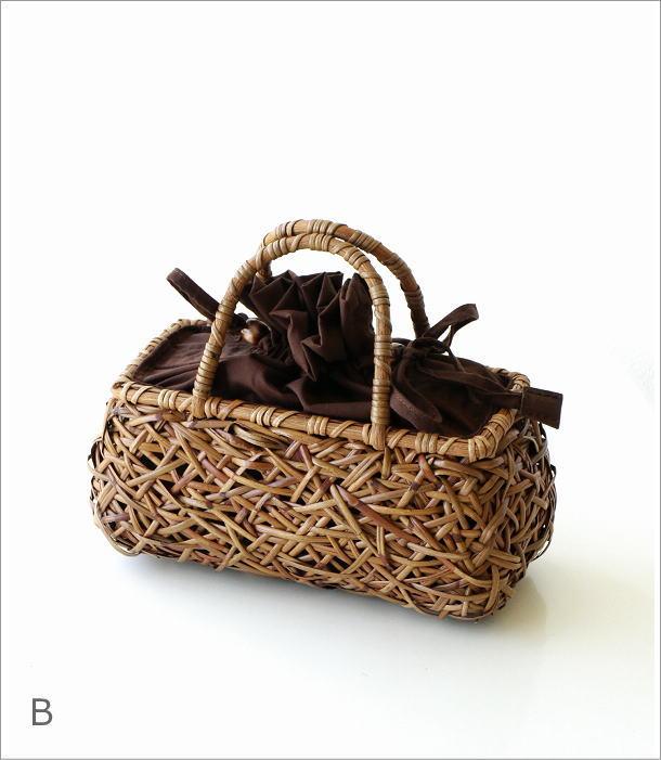 ラタンランダム編み横長バッグ 2カラー(7)