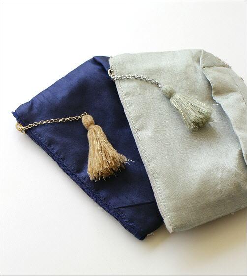 ビーズ刺繍マチ付きポーチC 2カラー(3)