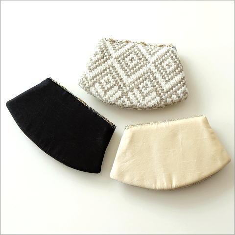 ビーズ刺繍クラッチポーチ 3タイプ(4)
