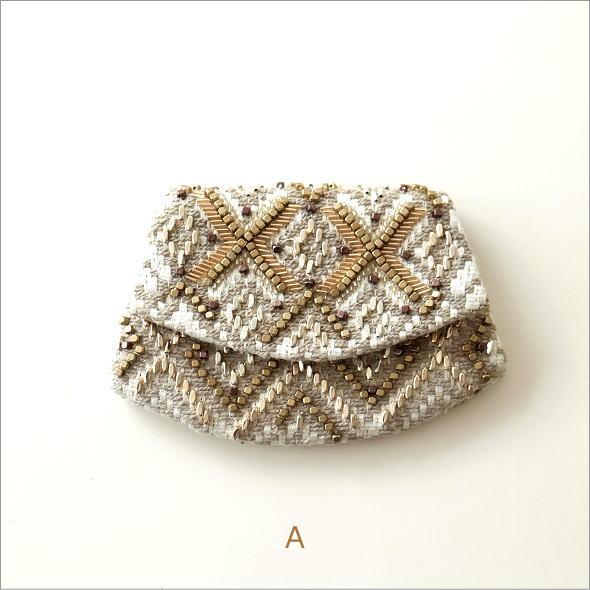 ビーズ刺繍クラッチポーチ 3タイプ(5)