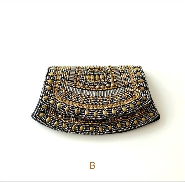 ビーズ刺繍クラッチポーチ 3タイプ(6)