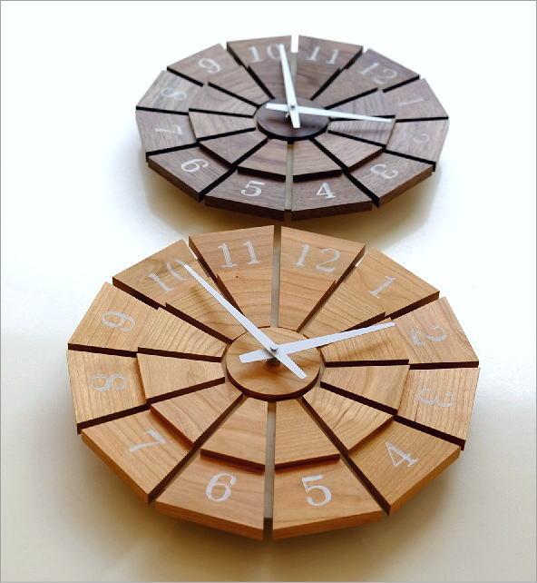 ウッド壁掛け時計SUN M2カラー(1)