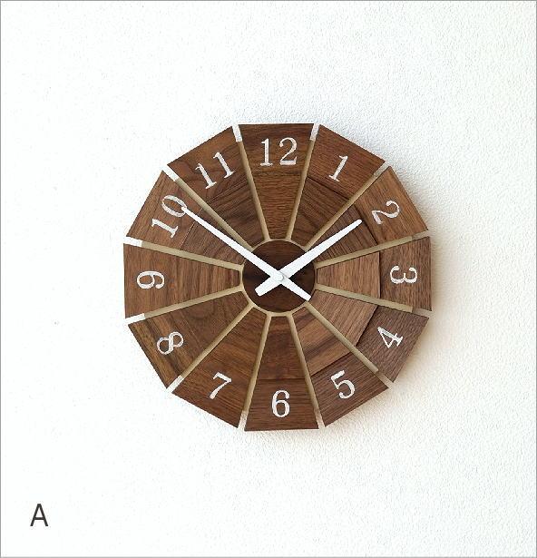 ウッド壁掛け時計SUN M2カラー(5)