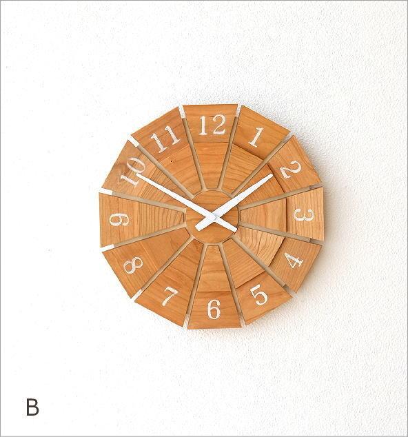 ウッド壁掛け時計SUN M2カラー(6)