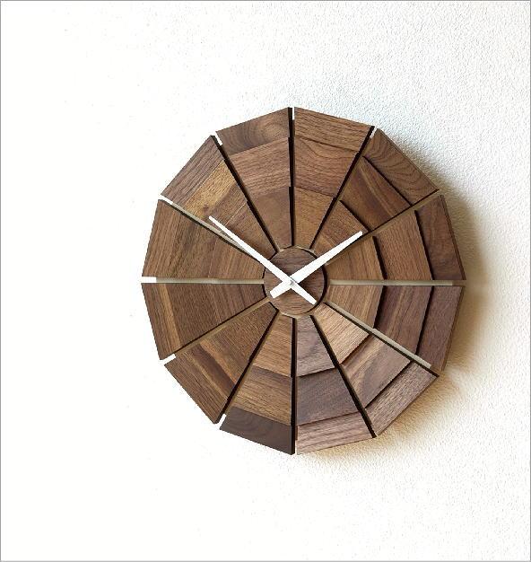 ウッド壁掛け時計SUN L(1)