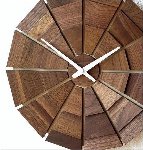 ウッド壁掛け時計SUN L(2)