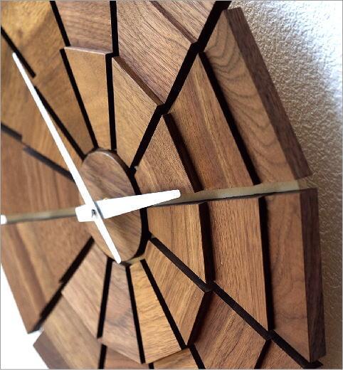 ウッド壁掛け時計SUN L(3)