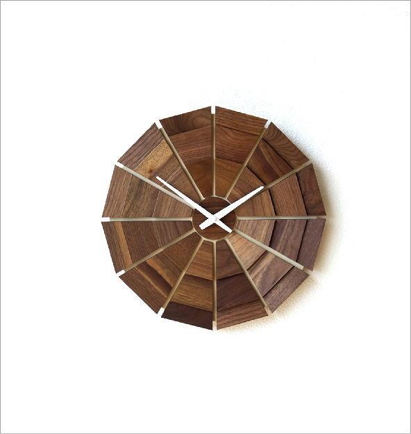 ウッド壁掛け時計SUN L(5)