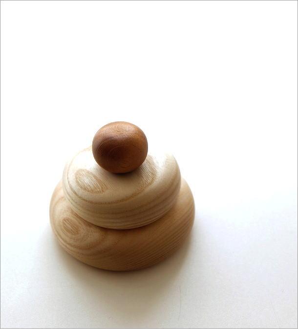 木の鏡餅のオブジェ(1)