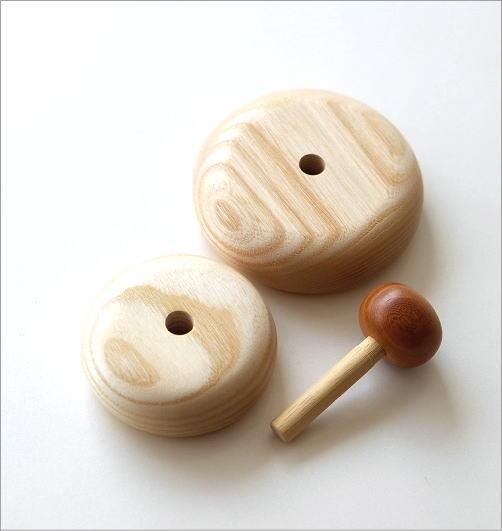 木の鏡餅のオブジェ(2)