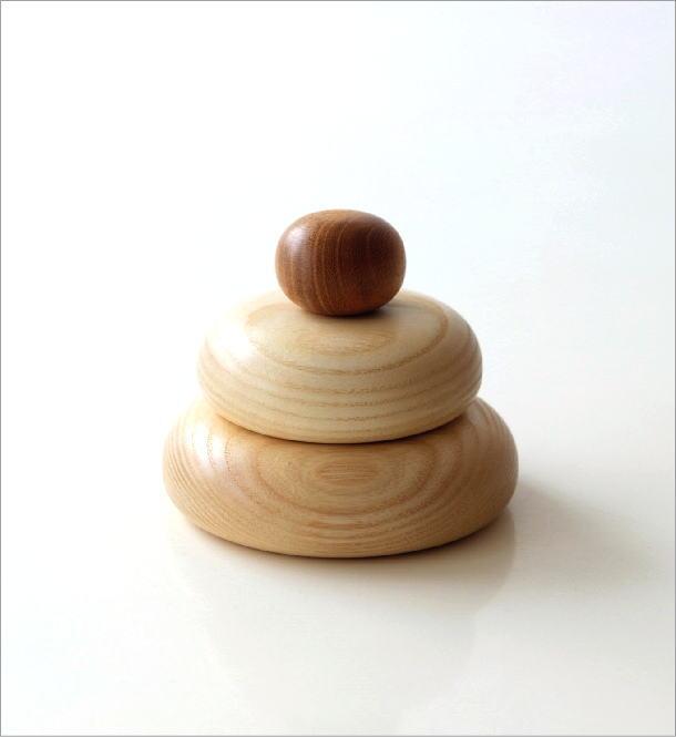 木の鏡餅のオブジェ(3)