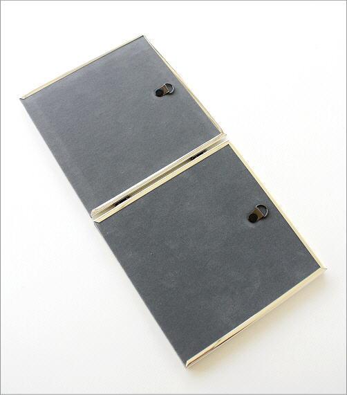 シルバーシルバーメタルフレーム2枚折(4)