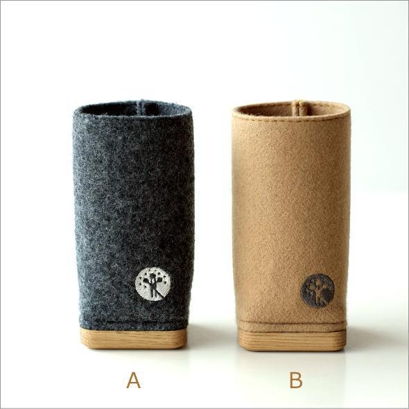 ウールメルトンと木のペン立て 2カラー(5)