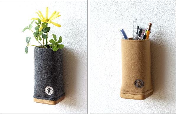 ウールメルトンと木のペン立て 2カラー(4)
