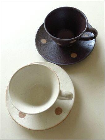 カップ&ソーサ 志野ドット(2)