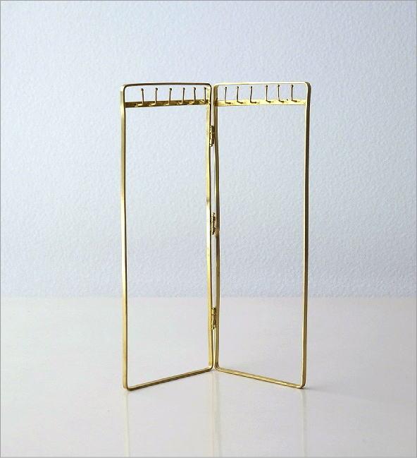 真鍮のネックレススタンド(3)